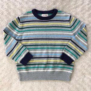 Cat & Jack Sweater Gray Blue Yellow Stripes 5T